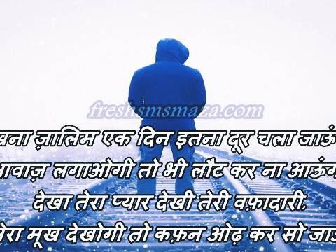 zalim teri bewafai shayari in hindi